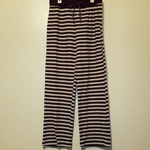 NWOT Striped pajama pants